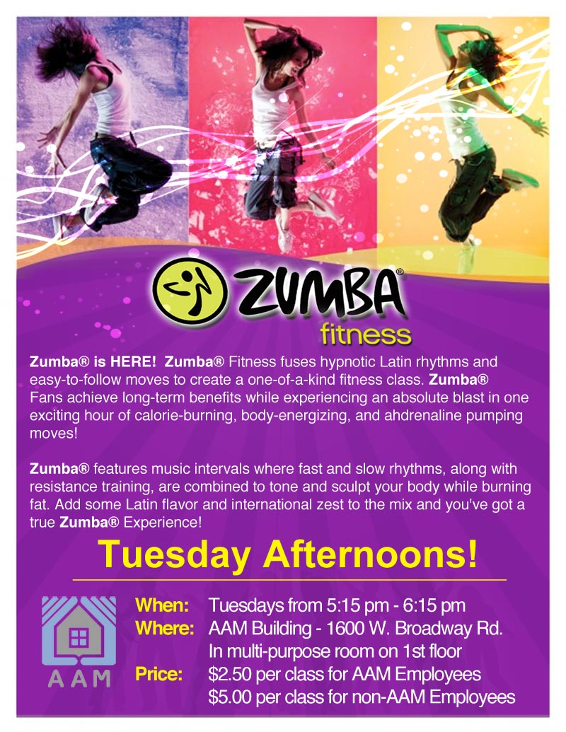aam corporation zumba flyer