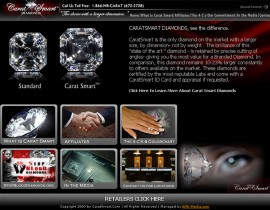 Carat Smart Diamonds - Custom Website Design with Flash