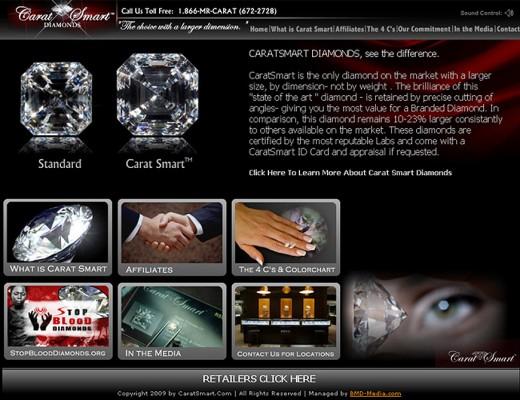 Carat Smart Diamonds - Custom Website Design with Flash