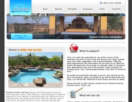 Dixileta Pools - Custom Website Design with Flash
