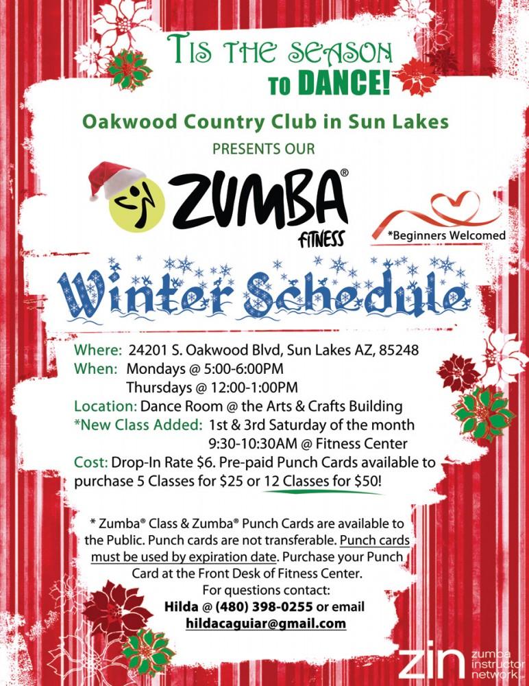 Zumba Holiday Flyer
