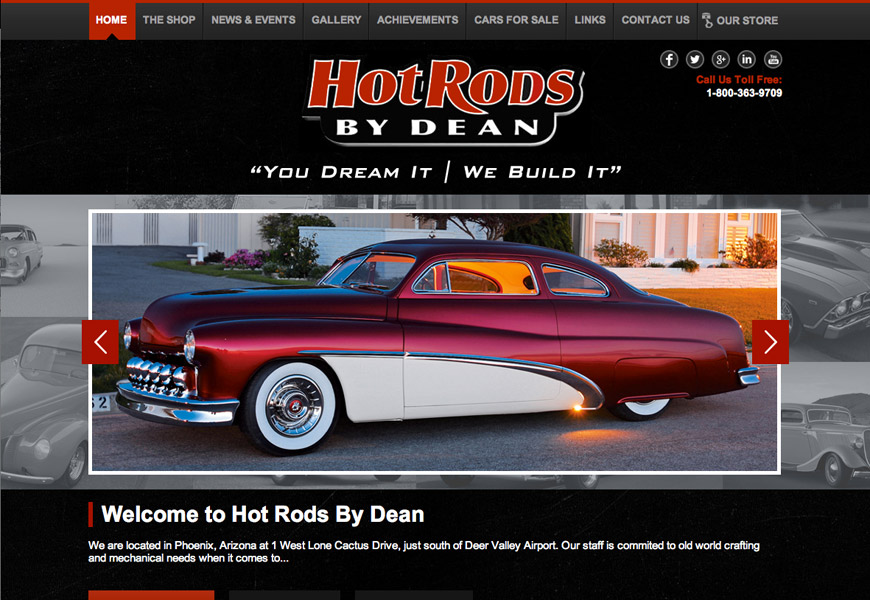 Hot Rods by Dean Custom Wordpress Theme