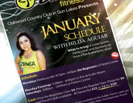 Zumba Fitness Flyer Design