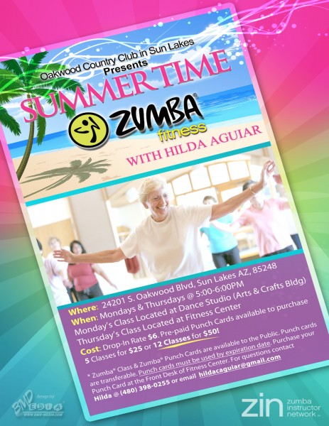 Zumba Flyer Design - Oakwood at Sun Lakes