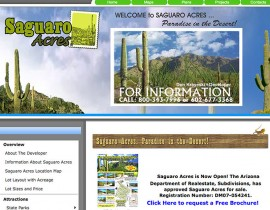 Saguaro Acres - Custom Website Design