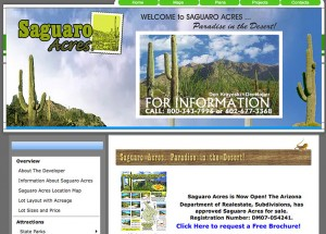 Saguaro Acres - Custom Website Design