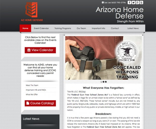 AZ Home Defense - Responsive WordPress Design