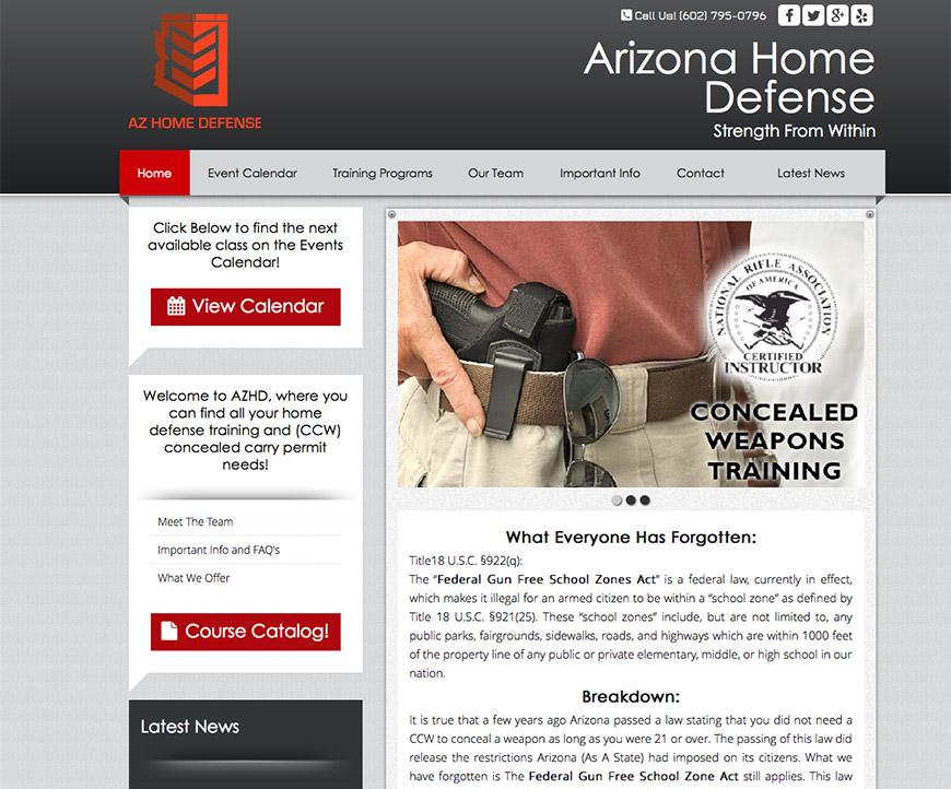 AZ Home Defense - Responsive Wordpress Design