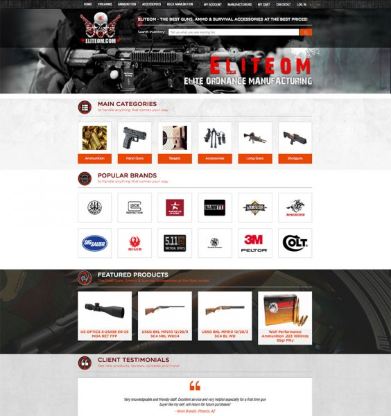 EliteOM - Custom Magento Website Design