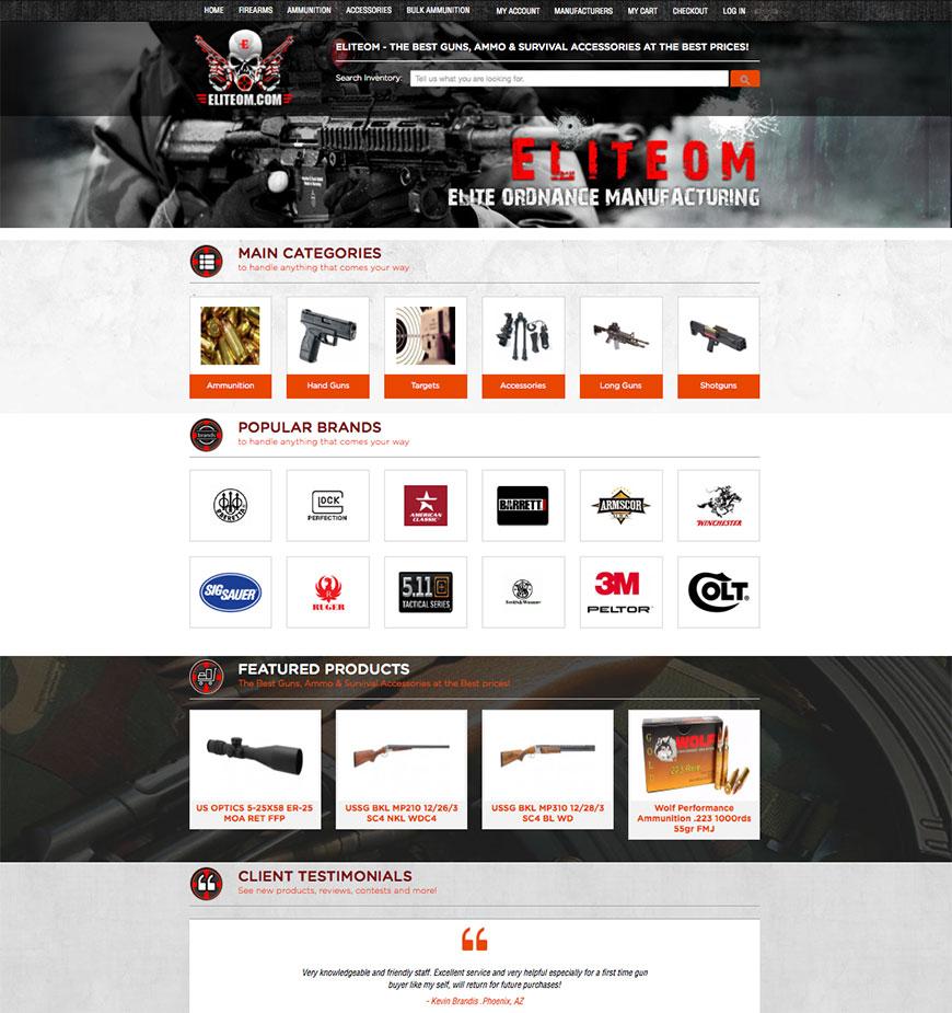 EliteOM Redesign - Magento Website Design - BMD Media Phoenix Web Design