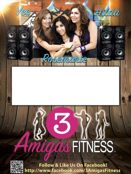 3 Amigas Fitness Zumba Flyer Design
