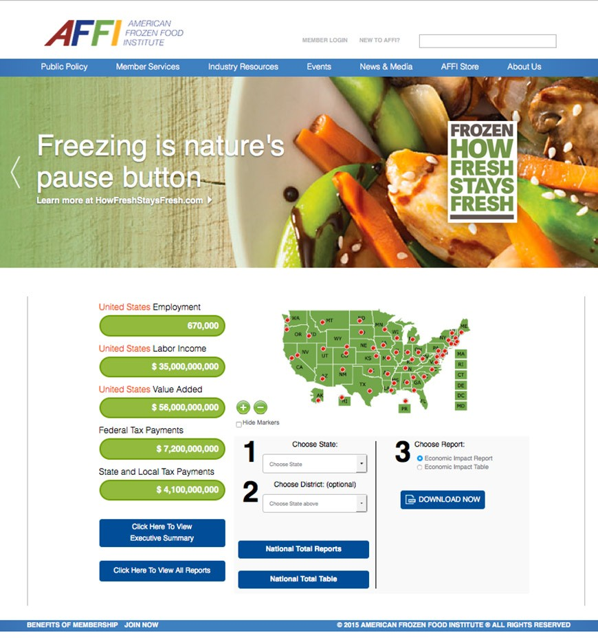 American Frozen Food Institute - Custom Programming