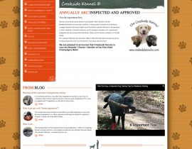 Creekside Kennel NC - Custom Wordpress Design