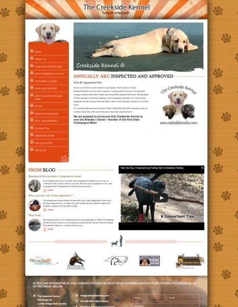 Creekside Kennel NC - Custom WordPress Design